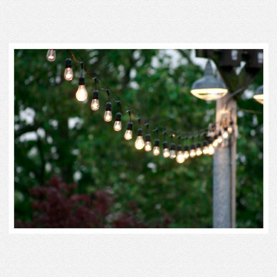 Items similar to Green, light string, summer, party, garden, Party Lights fine art photography ...