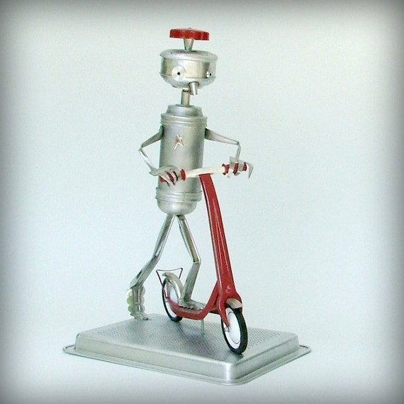Recycled Robot - Sustainable art - Wanna Race