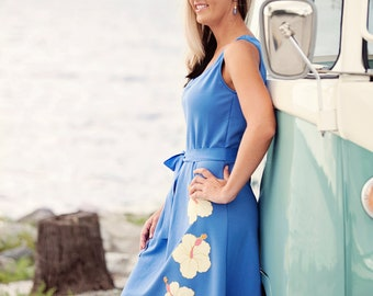 Beach wedding  periwinkle bridesmaids dress