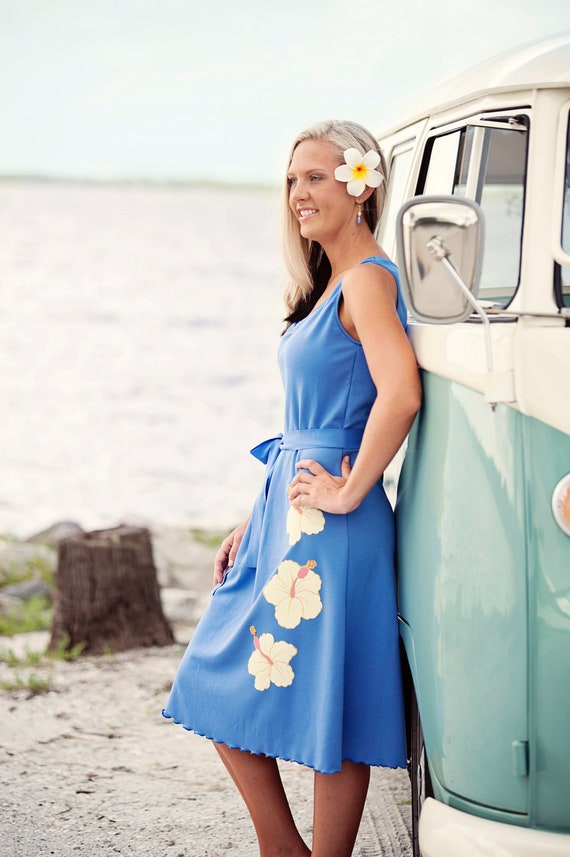 Beach wedding  periwinkle bridesmaids dress