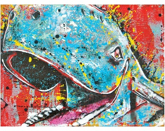 Blue Whale of Catoosa - 18 x 12 - High Quality Pop Art Print