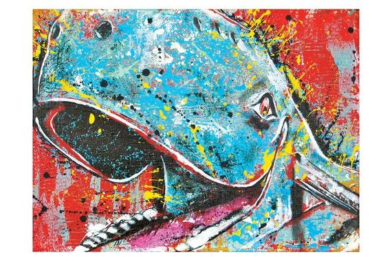 Blue Whale of Catoosa - 18 x 12 - High Quality Pop Art Print