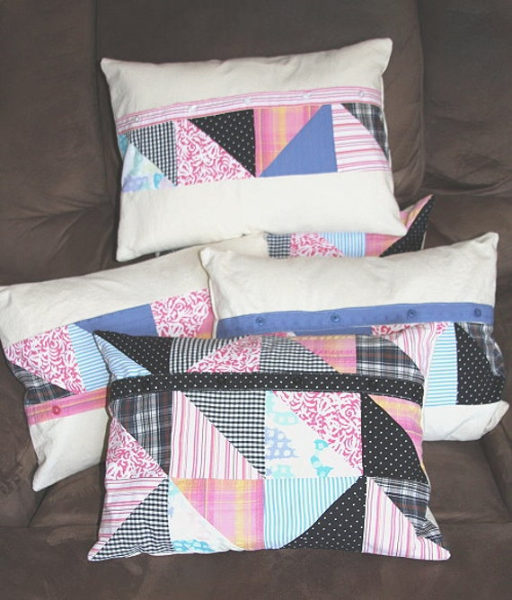Quilting Patterns For Pillow Covers : Quilted PATTERN Quilt Memory Pillow Cover Keepsake