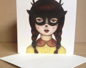 Don't Change - Masked Fawn Girl - Tamer Animals Greeting Card