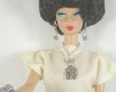 SALE Fashion Doll Jewelry Barbie, Silkstone, Royalty, LIV in Lavender