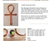 TUTORIAL Wire Wrapped Jewelry, Copper Ankh, Beginner to Intermediate