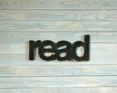 READ - handmade wood sign - home wall decor kids wedding gift family birthday vintage antique distressed