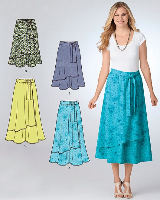 plus size skirt sewing pattern easy pull on skirts 2