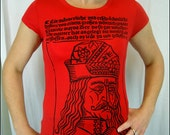 Clearance-- Vlad the Impaler Womens Red Tshirt