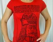 Vlad the Impaler Womens Red Tshirt