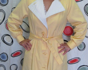 Buttery Yellow Trench Coat