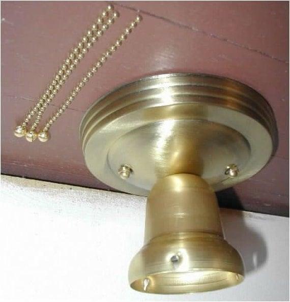 Old Ceiling Light Fixture Parts: 3 Chain LIGHT FIXTURE For Vintage 30s Art Deco By Vintagegrrrl