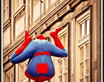 Germany Photograph. Spiderman, die Spinne, Superhero, Marburg, Germany. 8x12