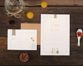 Mason Jar Wedding Invitations - Billy Ball Yellow Simple Elegant