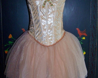 Corset Dress,  Tutu Dress,  Ballerina Tutu,  Ballerina costume,  Ballet costume,  size M