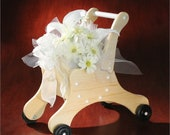 Special Order for A.R. - Wedding Flower Girl Cart Basket