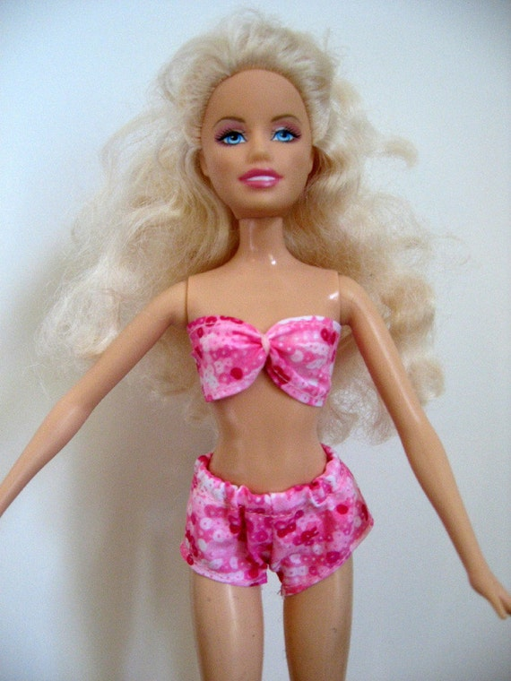 Pink Barbie Doll Swimsuit