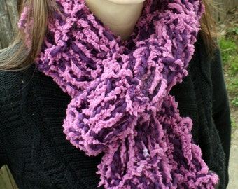 Handmade Purple and Mauve Scarf Womens Winter Scarf Fall Fashion Accessory READY to SHIP
