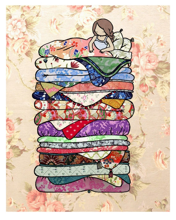 11x14 Print Princess and the Pea fine art whimsical color