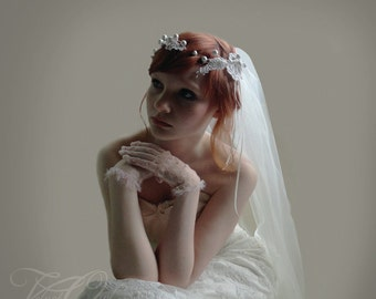 Bridal crown, wedding crown, wedding crown headpiece, wedding veil lace, Bridal veil, fingertip veil, wedding veil fingertip,