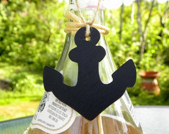 anchor wedding favor nautical coastal decor wine bottle charms
