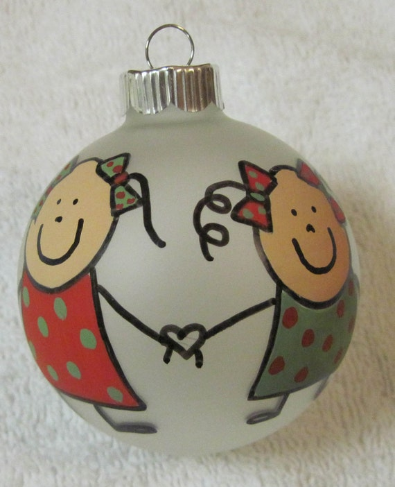 Items similar to Sisters Ornament or Best Friends ...