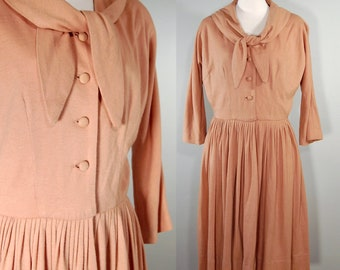 1950's Wool Sailor Collar Dress, M/L