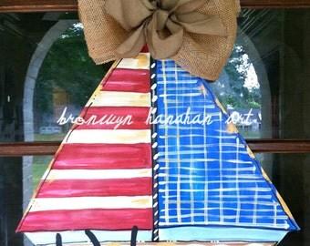 Vintage Inspired Sailboat Door Hanger - Bronwyn Hanahan Art