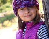 Knitted Hat PATTERN ... PDF instant download ... Girlie Billed Stull Cap