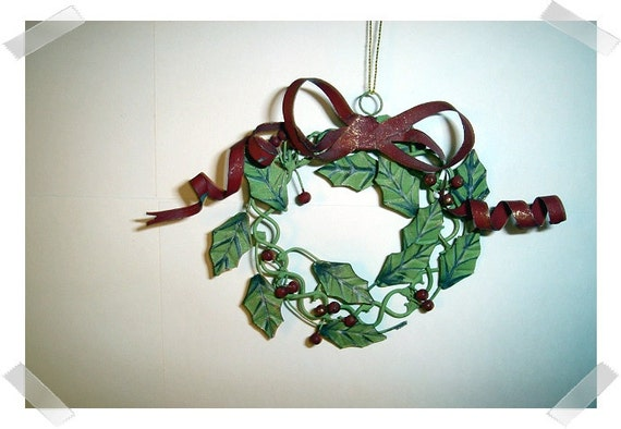 Metal wreath ornament holiday decor craft by for Metal art craft supplies