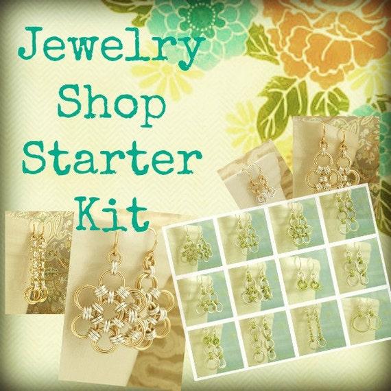 Jewelry Shop Starter KIT - Makes Twelve Pairs of Earrings