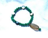 "Green Meditation Beads - 7"" Prayer Bracelet"