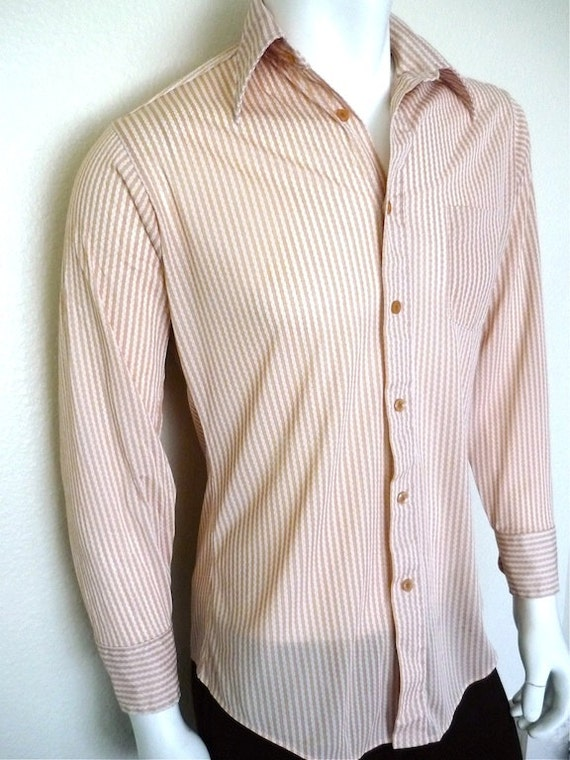 Vintage Apparel Men's 70's Shirt, Long Sleeve, Button Up, M-L 3433 FreshandSwanky on Etsy