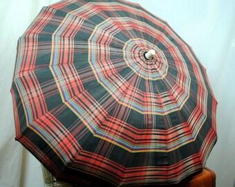 Lovely Vintage Fabric Prop Umbrella Parasol