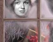 Marilyn Monroe Christmas Window Vintage Hollywood Painting Art Print (33)