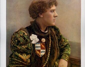 George Alexander, Antique Print, Scarce, Victorian, Theatre, Actor, Portrait, 1901, Baker St. London, Celebrities, Stage