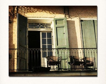 Photograph of New Orleans French Quarter, Wrought Iron Balcony Wall Art, Louisiana Wall Art, Travel Print, New Orleans Art, NOLA print