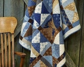 Throw - Lap Quilt- Blueberry Crumb Cake
