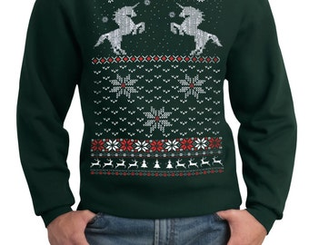Ugly Christmas sweater Cat jumping in snow pullover cat