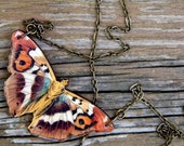 Moth Necklace (Rust/Teal/Gold) - As seen in Country Living Magazine