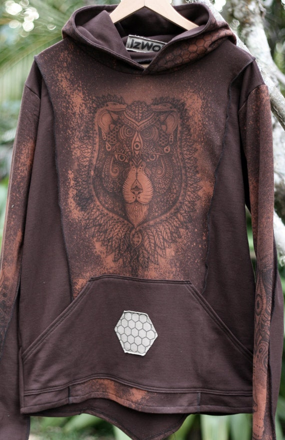 Rusted Relic - 'See Lion' mens hoodie Medium