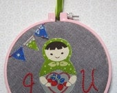 Matryoshka Doll Hoop Embroidery