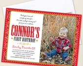 Country Western Party Photo Invitations - Professionally printed *or* DIY printable