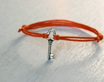 Little Key bracelet, Little Key Anklet (Many colors to choose)
