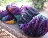 Hand painted wool, mohair yarn lg skein very soft, feltable