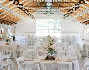 Vintage Wedding Decorations / Shabby Chic Wedding Decorations / Fabric Bunting / Barn Wedding Decor / Outdoor Wedding Decorations / 60ft