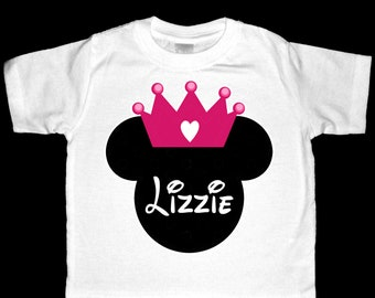 Personalized Princess Minnie Mouse Shirt or Bodysuit - Personalized with ANY name