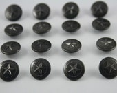 100 pcs.Black Vintage Star Round Rivet Studs Buttons Leather craft Decorations 12 mm. ST BL12 RV 0501