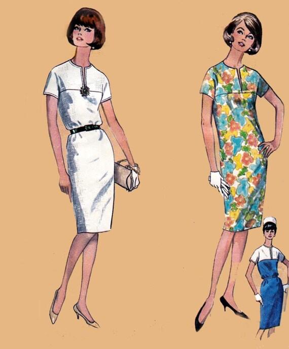 Vintage 1960s Shift Dress Sewing Pattern Simplicity 5875 Size - photo#49