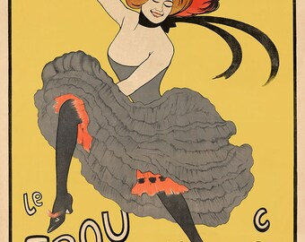 """New Vintage Reproduction French Advertising Poster """"Le Frou Frou """", journal humoristique"""" c1899"""